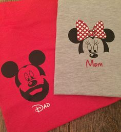 Mickey/Minnie Mouse Family Shirts by KyaFerne on Etsy