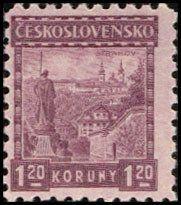 Znaczek: Praga, Strahov Monastery (Czechosłowacja) (Zamki, krajobrazy i miasta) Mi: CS 249, Yt: CS 224, AFA: CS 115, POF: CS 213