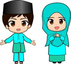 Doodle Kids, Moroccan Party, Cartoons Love, Family Day, Doodle Drawings, Art Girl, Muslim, Doodles, Clip Art