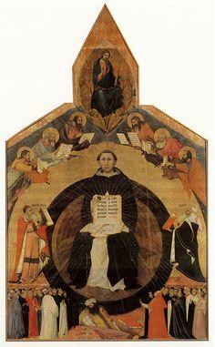 Memmi,Lippo, Apotheosis of St. Thomas Aqinas, Church of Sta. Caterina, Pisa, c.1323.