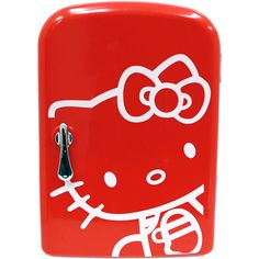 I need this in my craft room - a Hello Kitty Mini Fridge! Hello Kitty Car, Hello Kitty Kitchen, Hello Kitty House, Kitty Kitty, Portable Mini Fridge, Cool Mini Fridge, Hello Kitty Merchandise, Hello Kitty Accessories, Kawaii Diy
