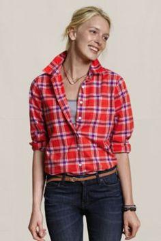 Women's Floral Poplin Shirt from Lands' End