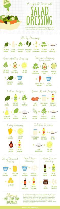 10 easy homemade salad dressing recipes