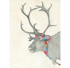 hooded reindeer, lisa congdon