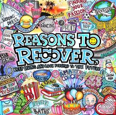Another amazing Kristina Webb drawing there's always a reason to recover :) Kristina Webb Drawings, Kristina Webb Art, Web Banner, Anorexia Recovery, Eating Disorder Recovery, Bipolar Disorder, Art Therapy Activities, My Demons, Snacks Für Party
