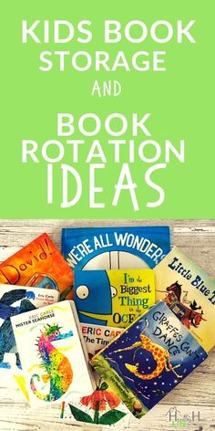Organizing kids books with a book rotation. Get rid of kids book clutter. Organizing Kids Books, Organizing Tips, Organization Hacks, Organize Kids, Playroom Organization, Decluttering Ideas, Cleaning Recipes, Diy Cleaning Products, Cleaning Hacks
