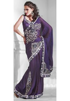 Double Tone Rust and Purple Crush Tissue Saree with Blouse