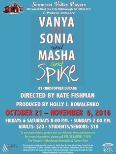 New Jersey Footlights: 'Vanya and Sonia and Masha and Spike' at Somerset ...