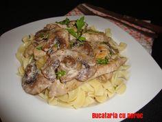 #Porc Stroganoff - Bucataria cu noroc Noroc, Spaghetti, Simple, Ethnic Recipes, Noodle