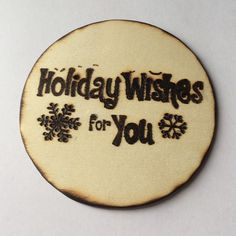 Wood burned ornament• Christmas • Holidays • Winter Decor by MShelsJewels on Etsy https://www.etsy.com/listing/485490245/wood-burned-ornament-christmas-holidays