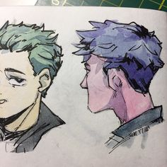 Anime Boy Hair, Boy Hairstyles, Old Friends, Drawing Reference, Cartoon Art, Cool Art, Doodles, Sketches, Drawings