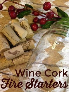 Wine Cork Fire Starters are great for camping, fireplaces and more. These fire starters are easy to make and most of us have these things on hand.
