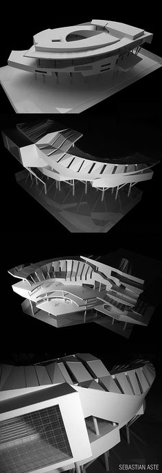 central architectural design shopping mall shopping mall white architectural model Source by Gemusse Parametric Architecture, Concept Architecture, Futuristic Architecture, Landscape Architecture, Interior Architecture, Instalation Art, Arch Model, Modelos 3d, D House