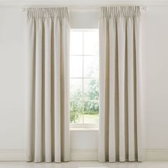 William Morris Wandle Lined Curtains Grey | Bedeck Home