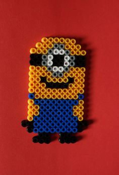The little minion guy Hama beads magnet   Despicable by Alabauhaus, £4.00