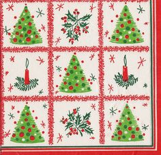 Vintage Christmas Cocktail Napkin by hmdavid, via Flickr