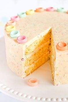 Orange Cake with Fruit Tingles (Fizzy Sherbet Candy) Icing by raspberri cupcakes, via Flickr