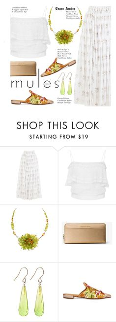 """""""TsarsAmber Jewelry - Slip 'Em On: Mules"""" by beebeely-look ❤ liked on Polyvore featuring Emilia Wickstead, Jonathan Simkhai, MICHAEL Michael Kors, Beau Coops, preppy, jewelry, summerstyle, mules and TsarsAmber"""