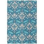 Elaine Wyatt Turquoise 5 ft. x 7 ft. 6 in. Indoor Area Rug
