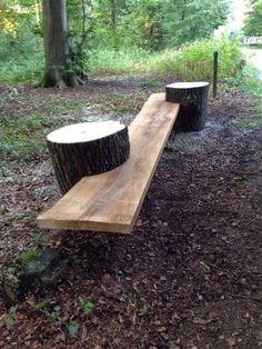 Stump & Plank Garden Bench
