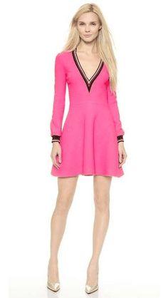 Victoria, Victoria Beckham | V Neck Swing Dress  #vicgoriavictoriabeckham #dress