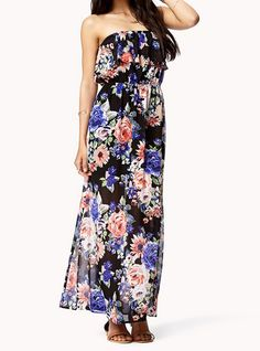 Flowers Strapless Chiffon Maxi Dress$52  http://udobuy.com/goods-12111.html#.UbFC_dj66O0