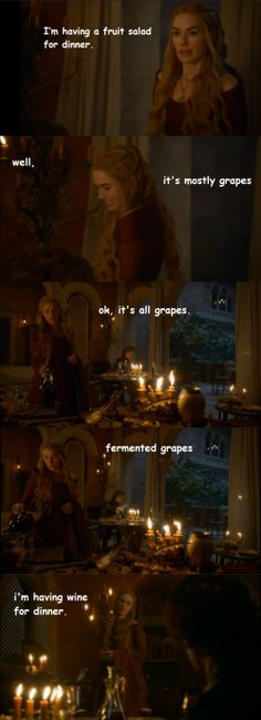 What's for dinner, Cersei? #asoiaf #got
