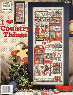 Schema punto croce Love Country Things 01