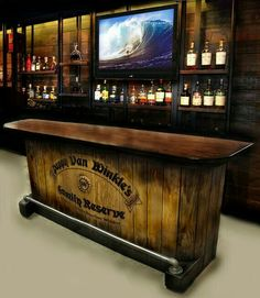 Reclaimed Rustics: Barn Wood Bar. This would be awesome for my ...