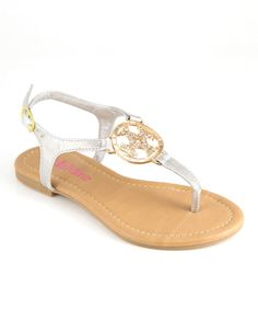 Another great find on #zulily! Bella Marie Silver Medallion Sandal by Bella Marie #zulilyfinds