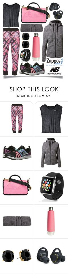 """""""Run the World in New Balance"""" by ittie-kittie ❤ liked on Polyvore featuring Dorothy Perkins, NIKE, New Balance, MANGO, Kenzo, Apple, GlucksteinHome, Core Home, Kate Spade and Samsung"""