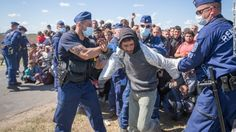 (CNN)A trash-strewn field along the Hungarian-Serbian border served as the latest flashpoint in Europe's migrant crisis Monday as people grew weary of...