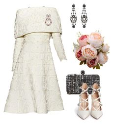 A fashion look from January 2018 featuring gianvito rossi pumps, colorful purses and gothic earrings. Browse and shop related looks. Lovely Dresses, Stylish Dresses, Stylish Outfits, Vintage Dresses, Casual Dresses, Off White Fashion, Royal Fashion, Simple Outfits, Classy Outfits