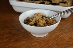 Peanut Butter and Jelly Baked Oatmeal- Kids will love this! It is PB in a bowl.