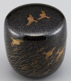 棗(なつめ)稲穂に雀蒔絵 Natsume