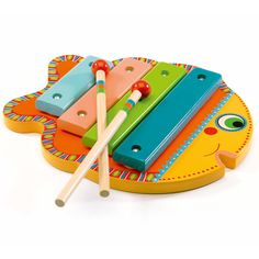 Djeco Wooden Xylophone from 18 Months Animambo - Trouva Toy Musical Instruments, Musical Toys, Toddler Toys, Baby Toys, Kids Toys, Goat Toys, Unique Gifts For Kids, Wooden Fish, Colorful Animals