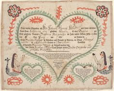 Birth and Baptismal Certificate (Geburts und Taufschein) for Susanna Margaretha Wind - Fraktur c. 1797
