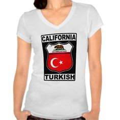 California Turkish American Women's Tee. Are you #Californian and proud of your Turkish heritage? Check this out! To see this design on a range of other products, please visit my store: www.zazzle.com/celticana*/ #TurkishAmerican