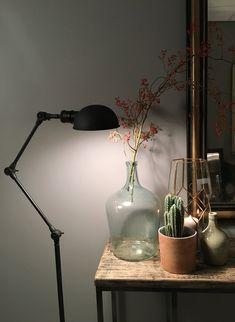 Industriële staande vloerlamp
