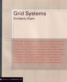 Grid Systems :: Princeton Architectural Press by Kimberly Elam