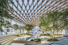 Image 30 of 30 from gallery of Venue B of Shanghai Westbund World Artificial Intelligence Conference / Archi-Union Architecture. Courtesy of Archi-Union Architecture Architecture Metal, Canopy Architecture, Architecture Photo, Amazing Architecture, Landscape Architecture, Backyard Canopy, Garden Canopy, Diy Canopy, Canopy Outdoor