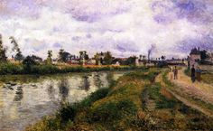 The Athenaeum - The Banks of the Oise (Camille Pissarro - )