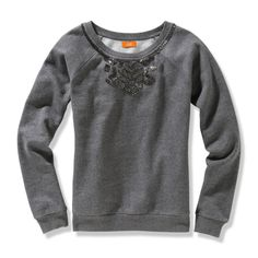Joe fresh at J.C.Penney - beaded sweatshirt.  You should check out JCP's if you haven't in a while.  They have stepped up their game.