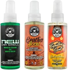 The natural enzymatic Chemical Guys New Car Smell Good Air Freshener works by eliminating foul odors. Owing to its strong deodorizing qualities, it has been reviewed as one of the best smelling car air fresheners sold by Chemical Guys. make car smell good air freshener   new car smell air freshener   car air freshener... Best Car Air Freshener, Febreze Car, New Car Smell, Odor Eliminator, Home Fragrances, Smell Good, Soy Candles, Deodorant, Lego Technic