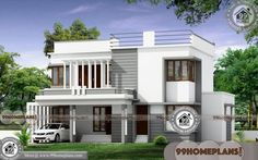 Simple 4 Bedroom House Plans with Double Story Ultra Modern Designs 5 Bedroom House Plans, Bungalow House Plans, Simple House Design, House Design Photos, Carriage House Plans, Modern Design, Floor Plans, How To Plan, House Styles