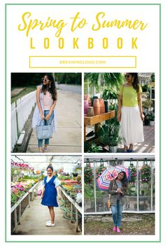 Spring to Summer Transitional look book | Dreaming Loud ---- Summer style, spring layers. Summer layers. Summer outfit ideas, pinafore dress, utility jacket