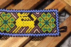 Huichol 3 Peyote 2 Deer Beaded Bracelet JJJ