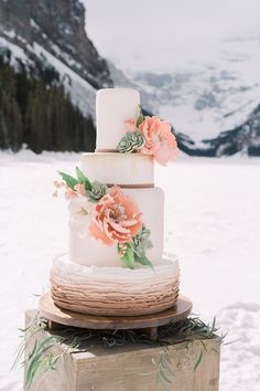 elegant ruffled cake by Whippt Desserts and Catering Inc @weddingchicks