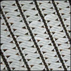Large white parang pattern #batik from Indonesia at Textiil.com