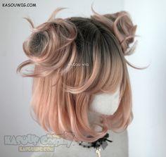 [ Kasou Wig ] süsse Lolita Perücke Uni- ♦ Coral Peach ♦ - New Site Kawaii Hairstyles, Pretty Hairstyles, Wig Hairstyles, Cosplay Hair, Anime Cosplay, Cosplay Wigs, Kawaii Wigs, Lolita Hair, Peach Hair